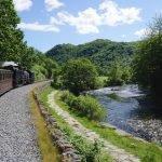 The Welsh Highland Railway at Aberglaslyn